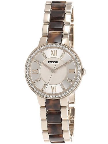 reloj  30 mm de la mujer fossil brown pulsera de acero y caj