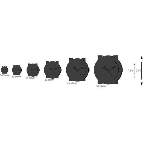 reloj  36mm beige banda de cuero de las mujeres fossil caja