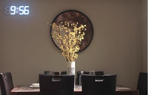 reloj 3d despertador led gigante usb base mesa pared pila