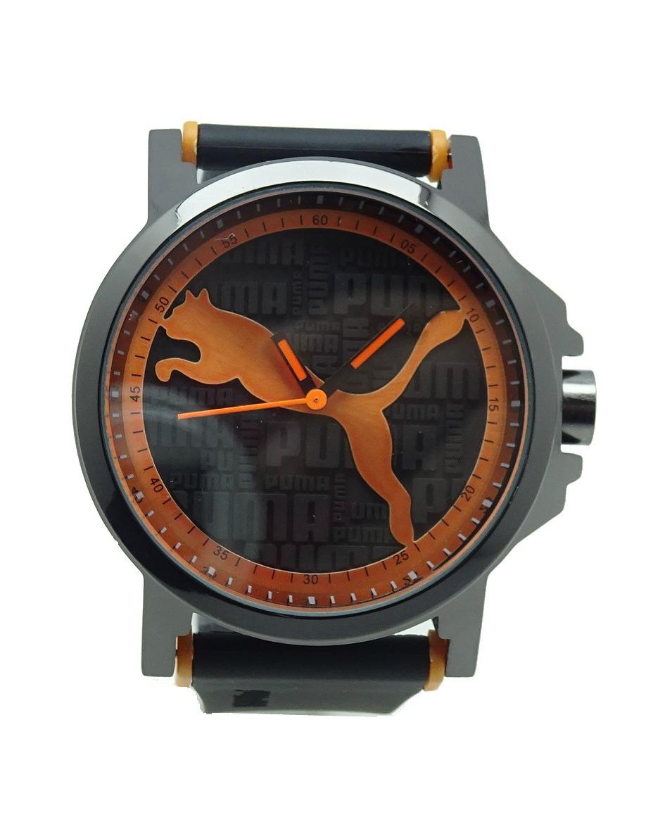 b81b290c9fb09c Reloj 3d Letras Hombre Caucho Negro Con Naranja Sport 79 -   490.00 ...