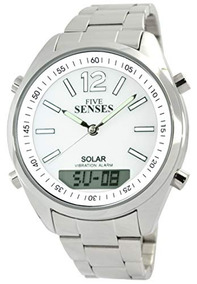 d15acc87d0a6 Reloj 5 Senses Solar Vibration Alarm Watch Deluxe 4 Vibratin