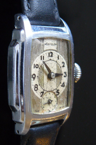reloj a cuerda westclox art deco mecanico