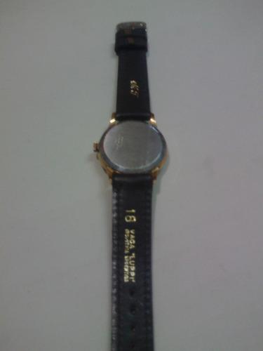reloj a cuerda,marca zeta (con calendario-funcionando)