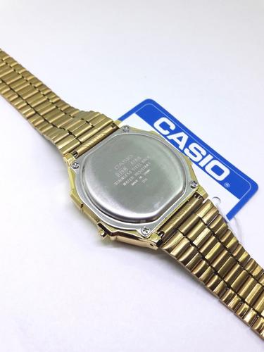 reloj a168 gold dorado clásico retro funda dama hombre a168d