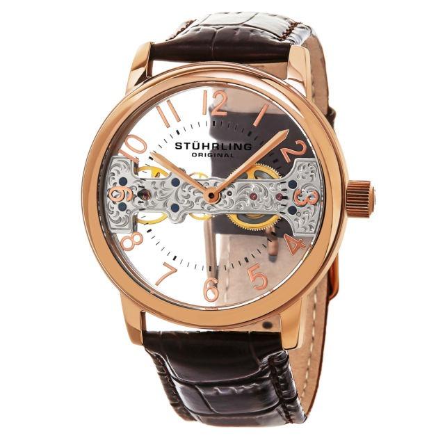 aed8ee0422ac Reloj Acero Inoxidable Correa Cuero 680.02 Stührling -   4