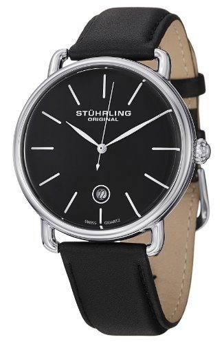 12e221f19d00 Reloj Acero Inoxidable Correa Cuero Hombre 768.02 Stührling ...