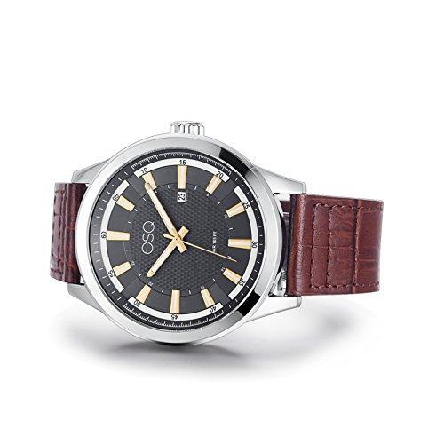 3285a972c52f Reloj Acero Inoxidable Y Cuero Cuarzo Esq Hombres Reloj -   647.990 ...