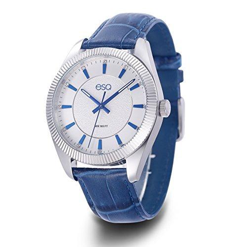 ca8cc371bd3a Reloj Acero Inoxidable Y Cuero Cuarzo Esq Hombres Reloj I -   663.990 en  Mercado Libre