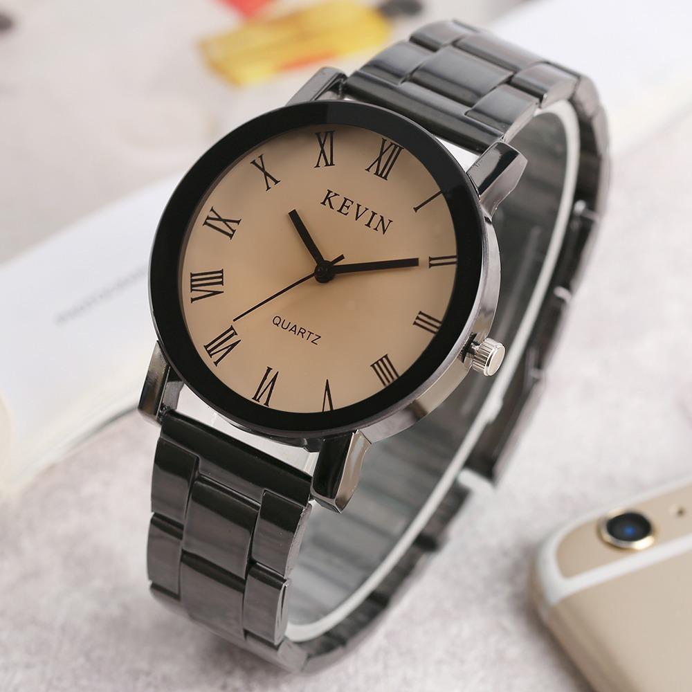 f2d30a42f8cc reloj acero negro marca kevin hombre moda mujer mayoreo b154. Cargando zoom.