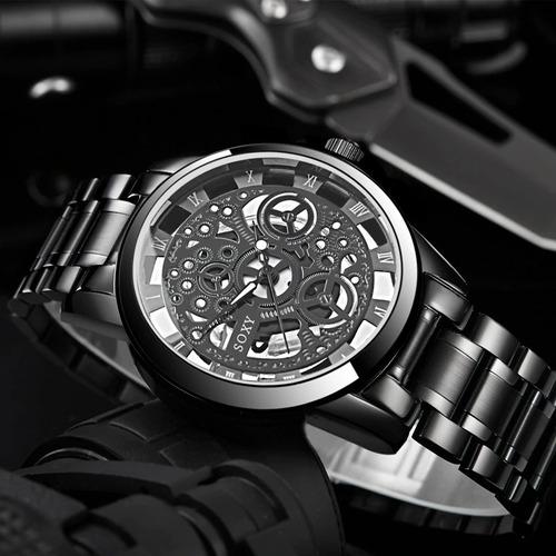 reloj acero para hombre soxi piñones - detal y por mayor