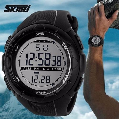 reloj acuático cronómetro deportivo luz led de noche skmei