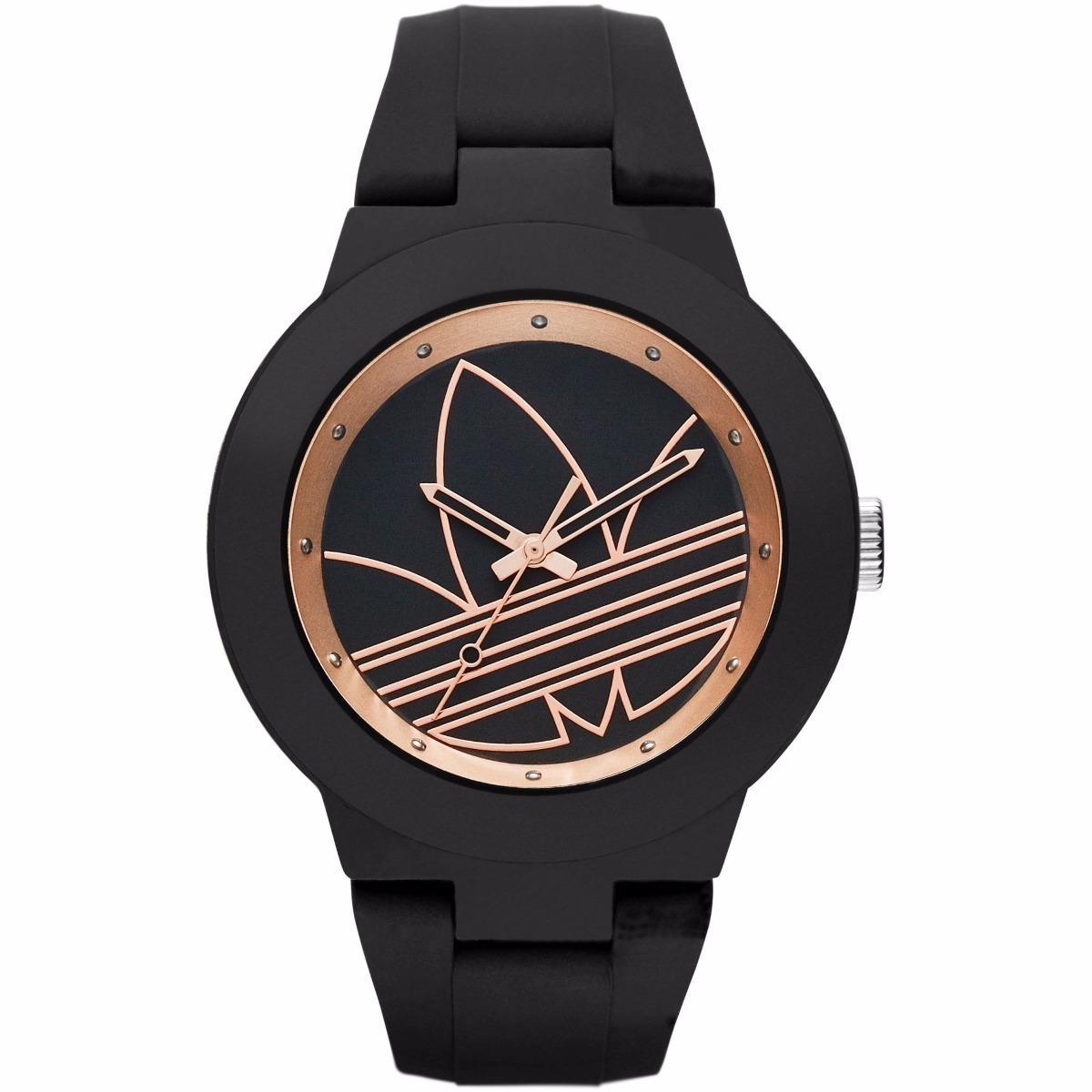 buy online e7978 1188e reloj adidas adh3086 aberdeen unisex negro oro rosa original. Cargando zoom.