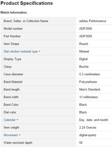 reloj adidas chrono digital response adp 3095 original