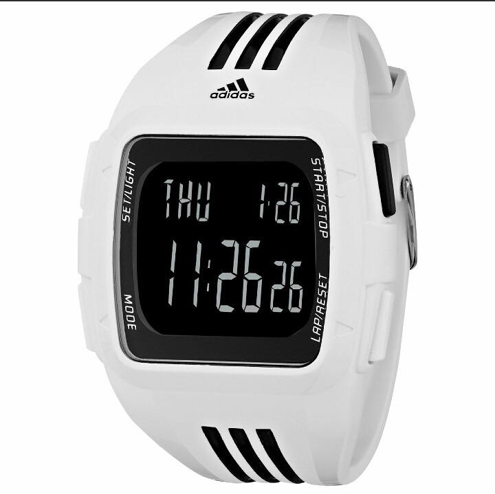 Adidas Original Cuadrado Reloj Digital Nuevo Blanc Caballero tQsrdBhCx