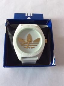 b9dfa4963392 Reloj adidas Originals Analogo Unisex Blanco.dorado Silicon