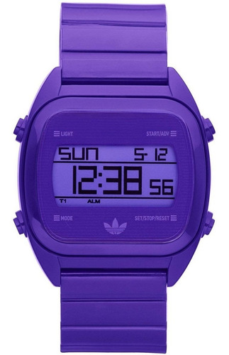reloj adidas originals digital violeta adh2890