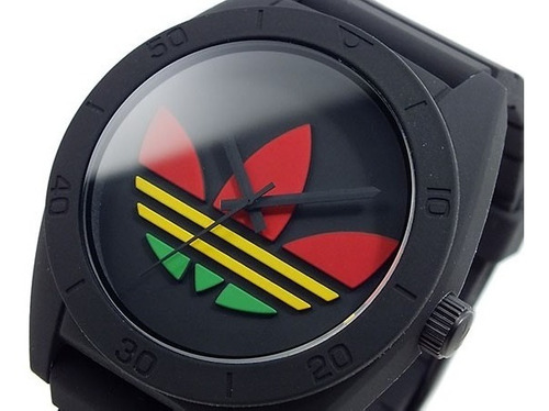reloj adidas santiago negro reggae