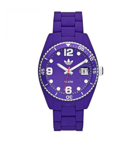 reloj adidas sumergible mujer violeta con calendario adh6178