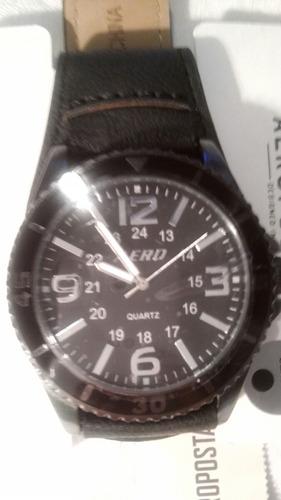 reloj aeropostale negro hombre nuevo! envio gratis