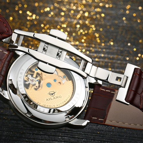 reloj ailang automático turbillón cristal zafiro