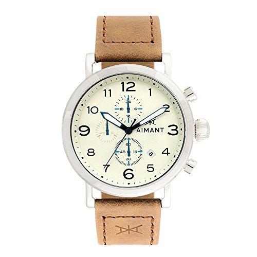 reloj aimant de plata para hombre rotterdam con banda de cue