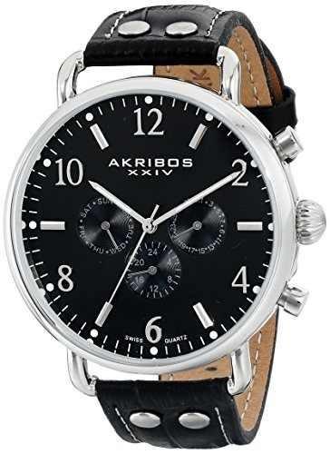 reloj akribos ak752ssb negro