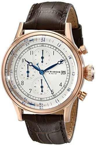 reloj akribos ak798rg marrón