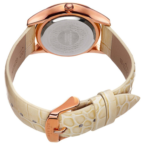 reloj akribos xxiv acero piel blanco mujer ak883wtr