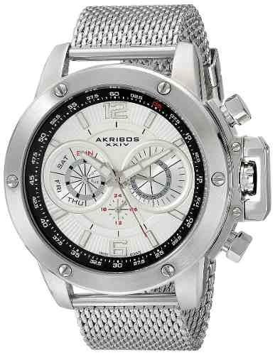 reloj akribos xxiv ak515ssw tono plateado