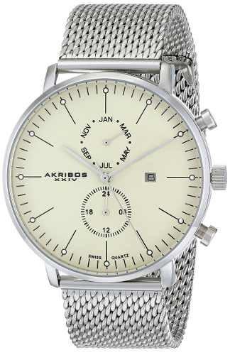 reloj akribos xxiv ak685ss plateado
