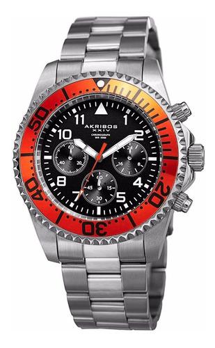 reloj akribos xxiv ak950 diver acero inoxidable !!! + regalo