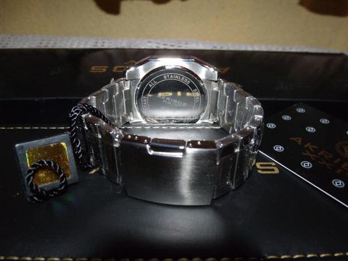 reloj akribos xxiv / hombre / día fecha / acer inox / sp0