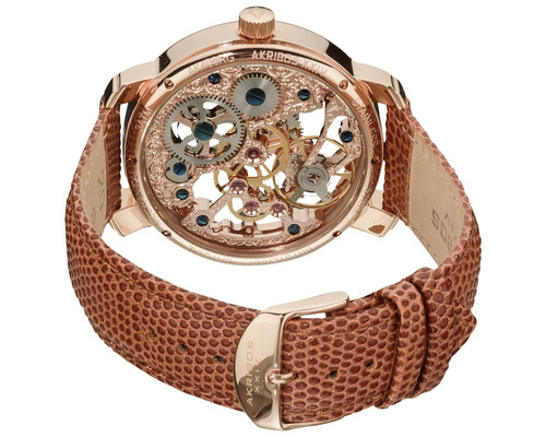 reloj akribos xxiv para hombre ak406rg pulso en cuero