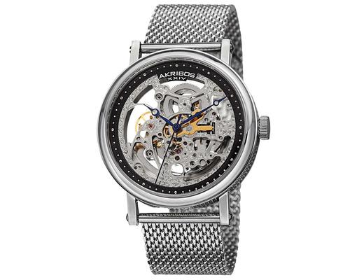 reloj akribos xxiv para hombre ak732ssb pulso de malla