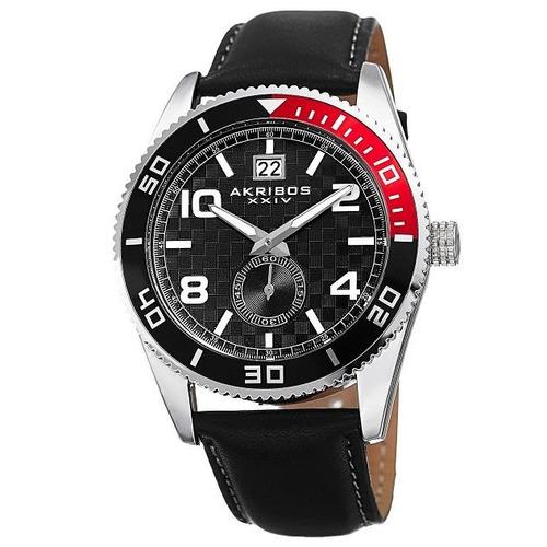 reloj akribos xxiv para hombre ak859ssb pulso en acero