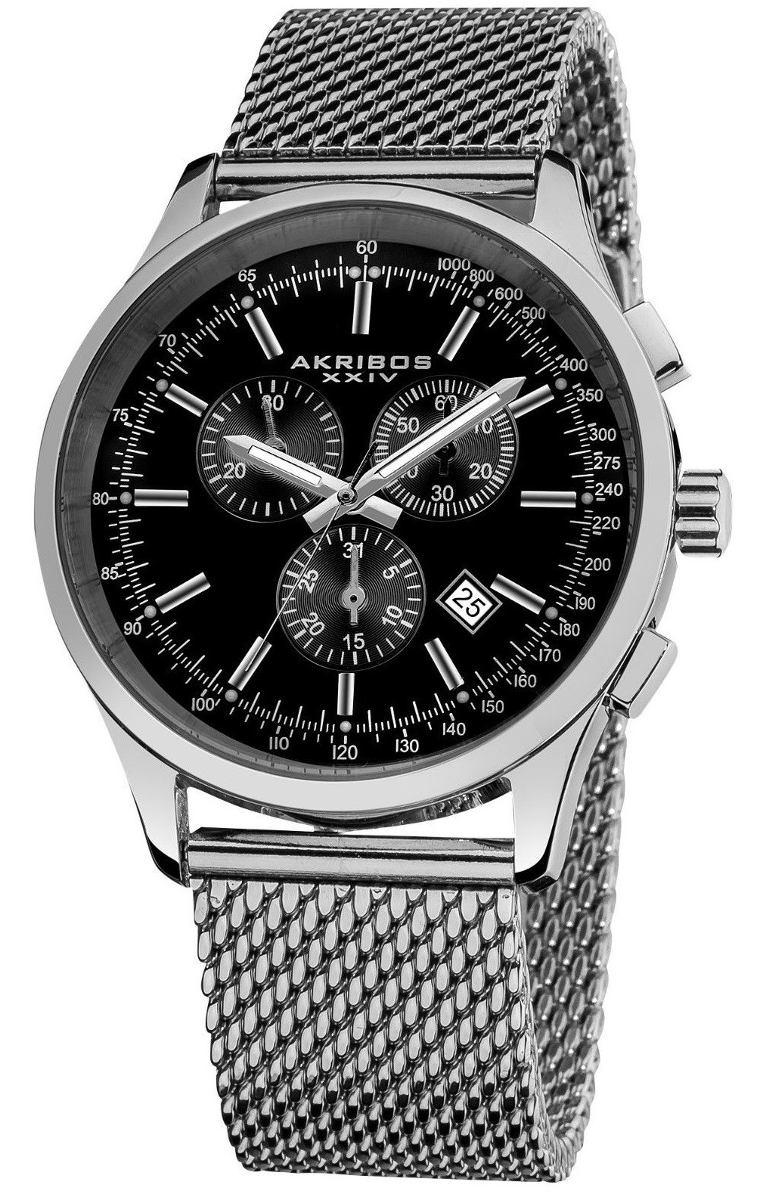 Reloj Akribos Xxiv Ultimate Acero Ak625ssb Cuarzo Inoxidable bYfy76g