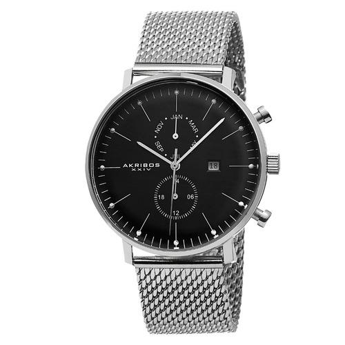 reloj akribos xxiv ultimate acero inoxidable negro ak685ssb