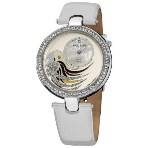 c2409d51a233 Reloj Akrotos Xxiv Ak602wt Con Loro Y Correa De Cuero Con A -   297.071 en  Mercado Libre