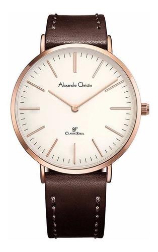 reloj alexandre christie classic steel 8490lhlrgsl