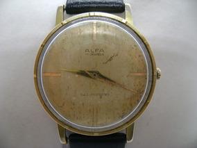 Reloj Cuerda Extraplano Alfa Vintage Original De Suizo BrhQdsCxt