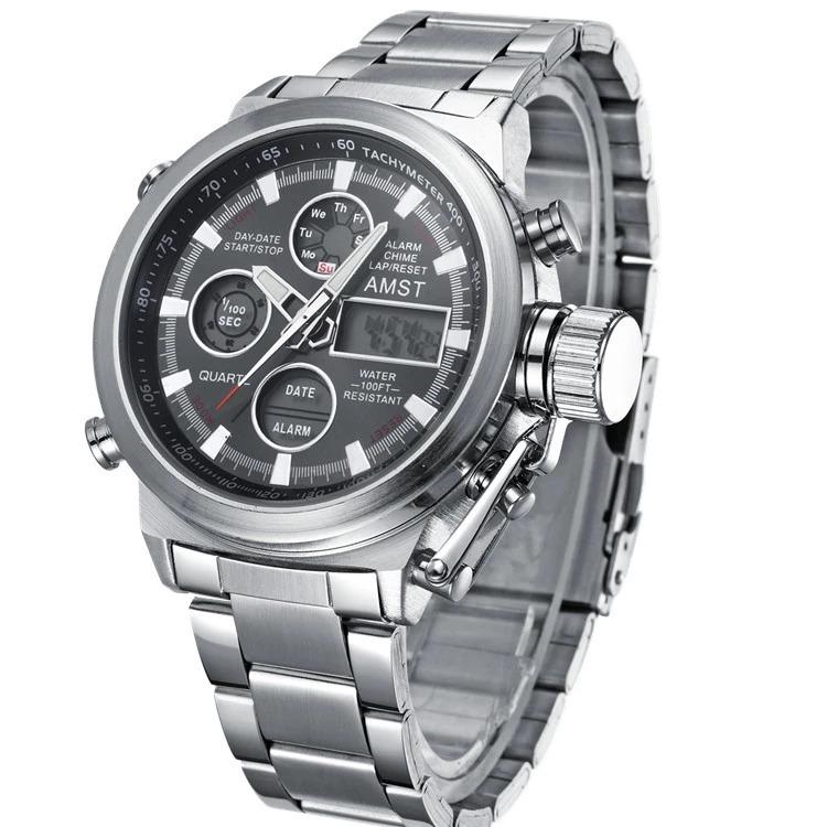 461d81920478 Reloj Amst Importado Stainless Steel Original Hombre - S  120