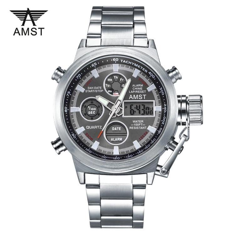 Reloj Hombre Importado Stainless Amst Steel Original ordCxeB