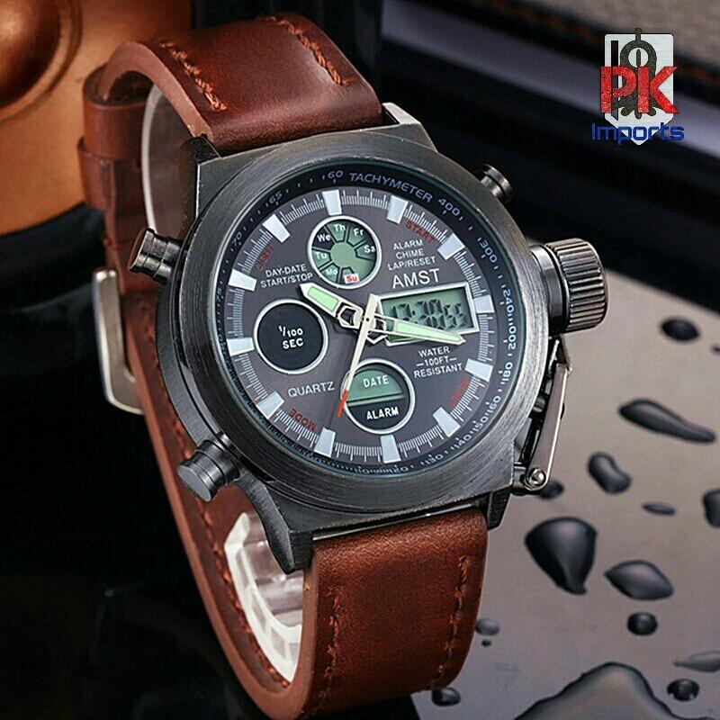Original Caja Acuático 5atm Reloj En Amst Elegante Militar ny8mwvPN0O
