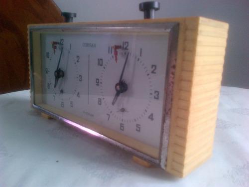 reloj analogico de ajedrez marca corsar