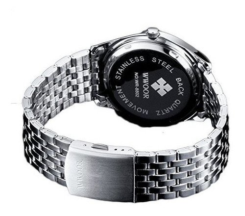 reloj analógico de cuarzo para hombres de wwoor, número