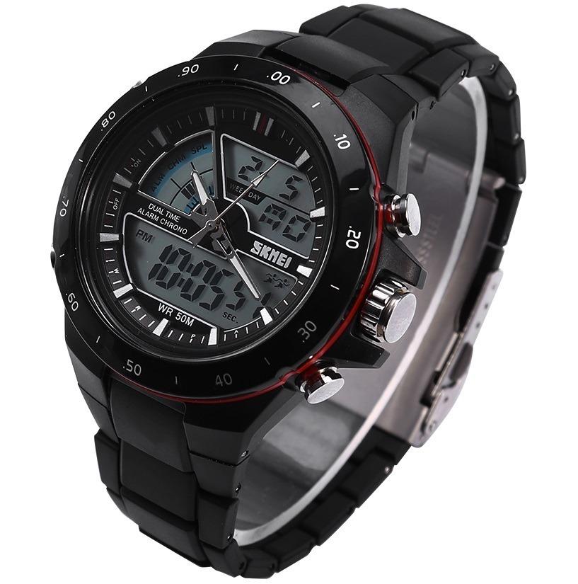 1e4d37e057cf Reloj Analogico Digital Skmei 1016 Cronometro Alarma Luz -   825