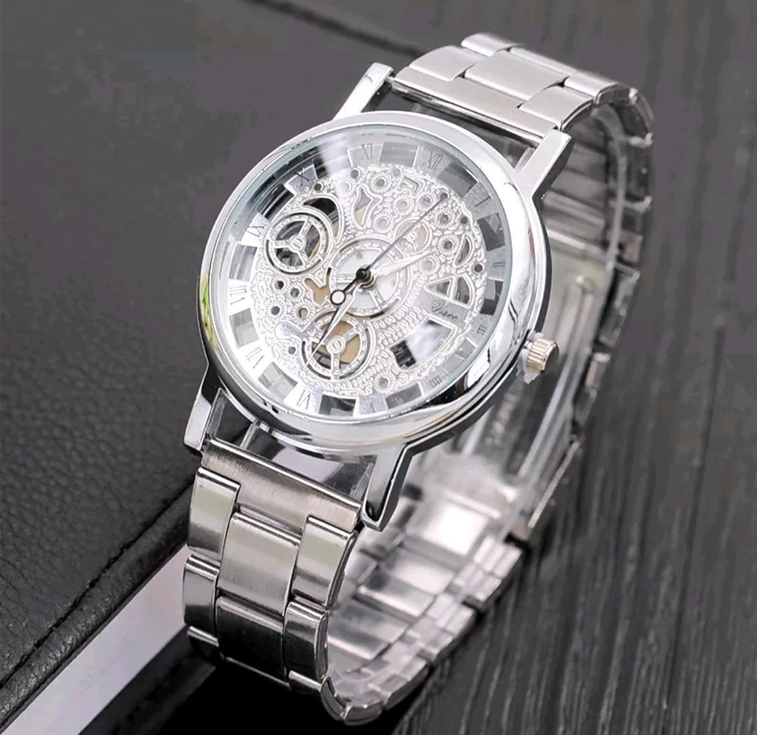 Reloj Analgico Para Hombre Esqueleto De Cuero 19900 en Mercado