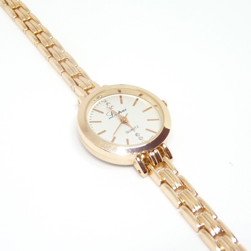 c7c73248ad1e reloj analogico pulsera mujer dama lp025 dorado rosa blanco. Cargando zoom.