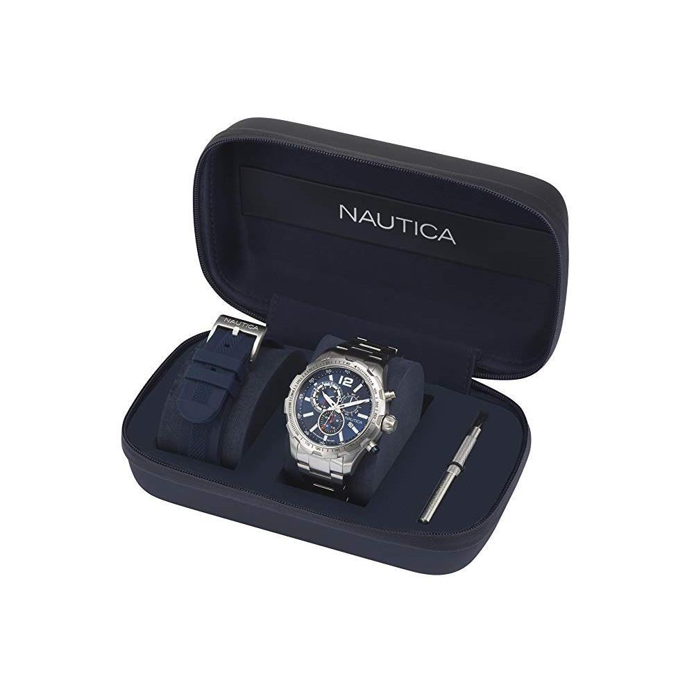 438f5e4b8084 reloj análogo marca nautica modelo  napn30001 color plata pa. Cargando zoom.