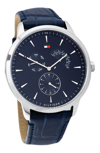reloj análogo marca tommy hilfiger modelo: 1710387 color azu